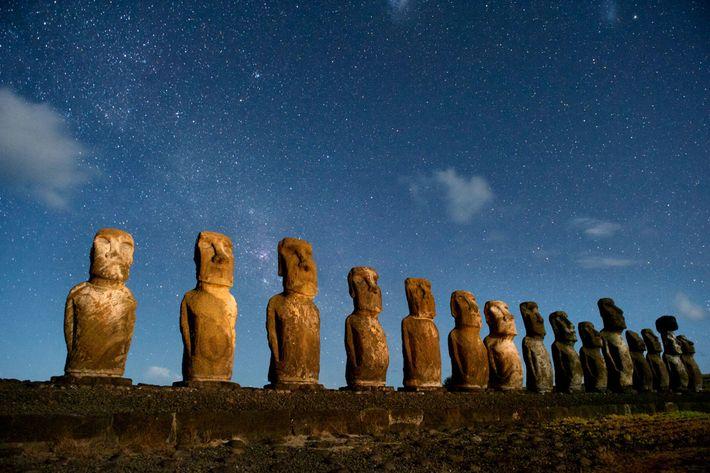 Moai auf Rapa Nui
