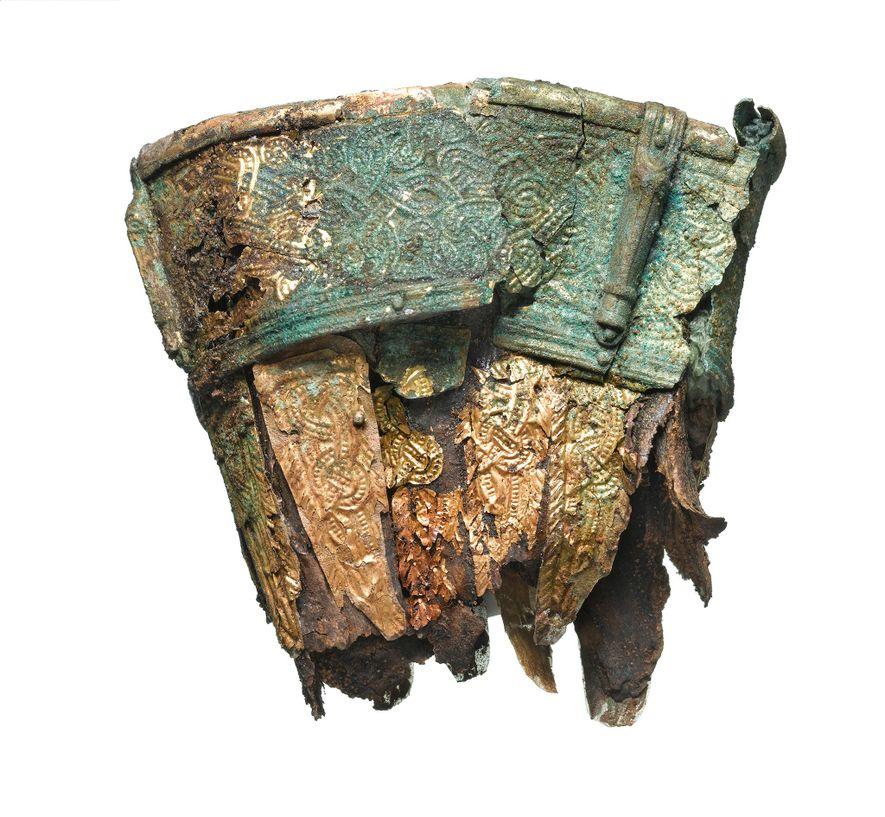 Dieses Trinkhorn lieferte organische Materie für eine Datierung des Begräbnisses.