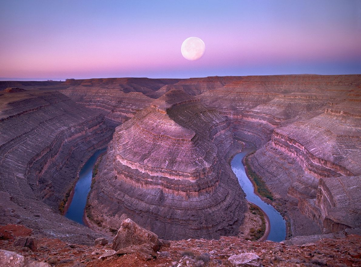 Mond über Utah