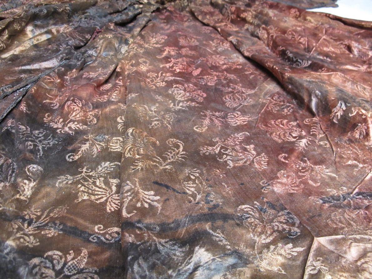 Detailaufnahme des Kleides