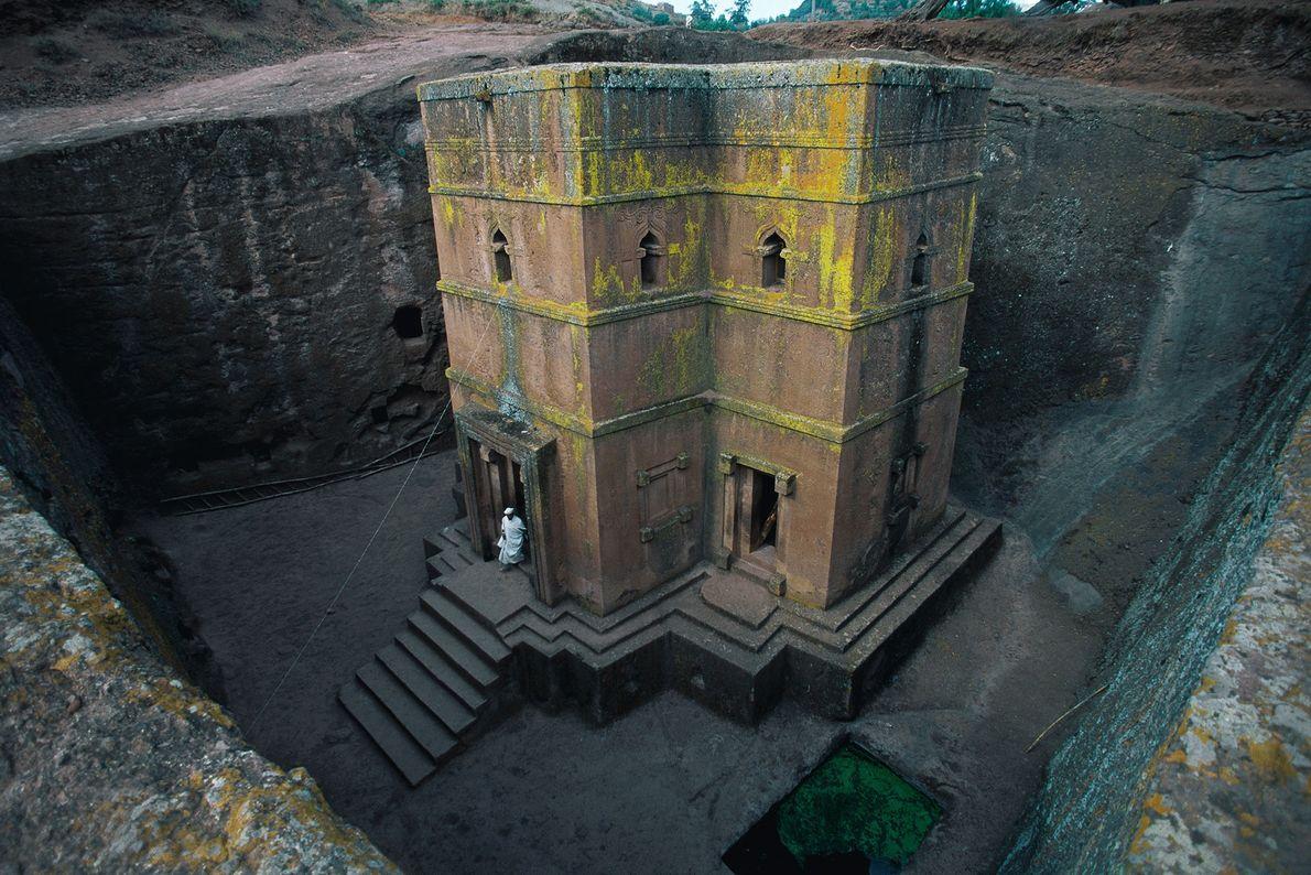 Die Welterbestätte Lalibela in Äthiopien ist für ihre eindrucksvollen Kirchen bekannt, die vor etwa 800 Jahren ...