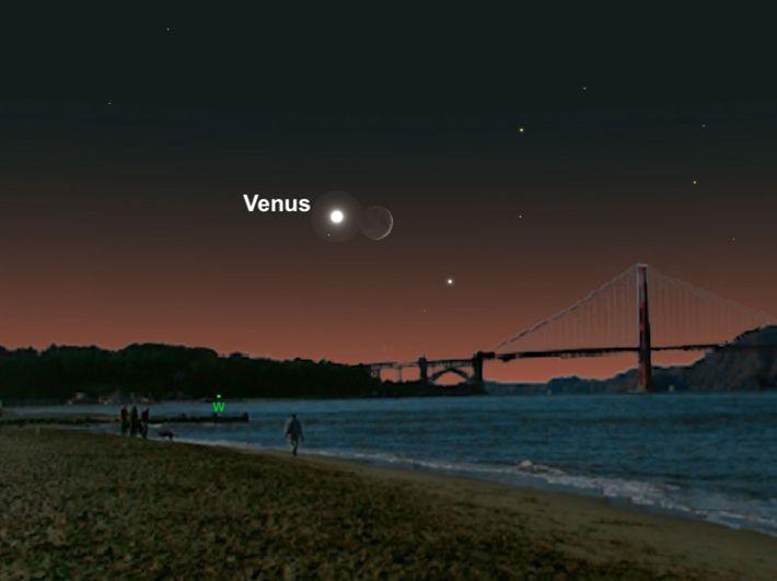 Venus und die Sichel des Halbmonds werden im Juli ein fantastisches Paar abgeben.