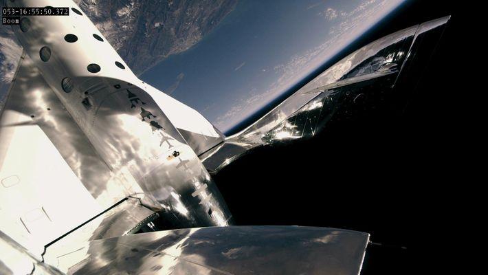Das SpaceShipTwo von Virgin Galactic erreichte am 22. Februar eine Höhe von etwa 90 Kilometern.