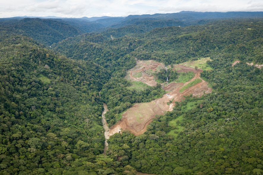 Forest clearing has already begun for the Chinese-financed hydroelectric power plant and dam in Sumatra's Batang ...