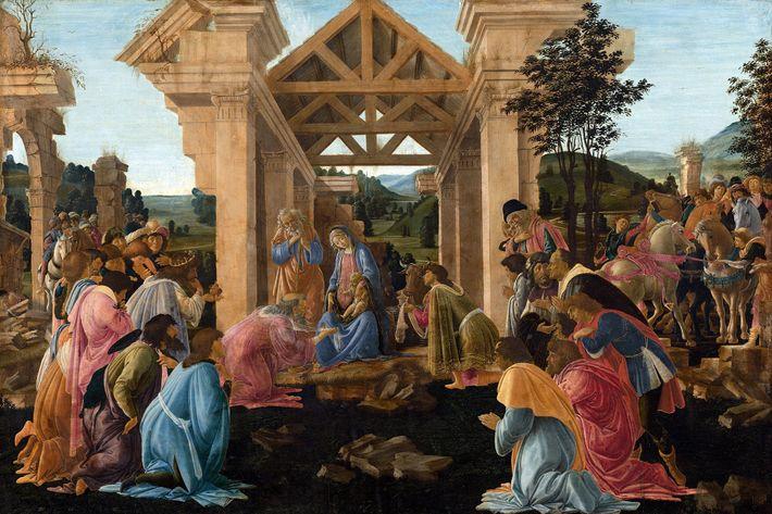 """Sandro Botticellis Gemälde """"Die Anbetung der Heiligen drei Könige"""""""
