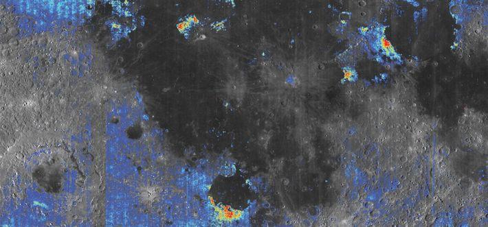 Ausschnitt einer Karte des Mondes