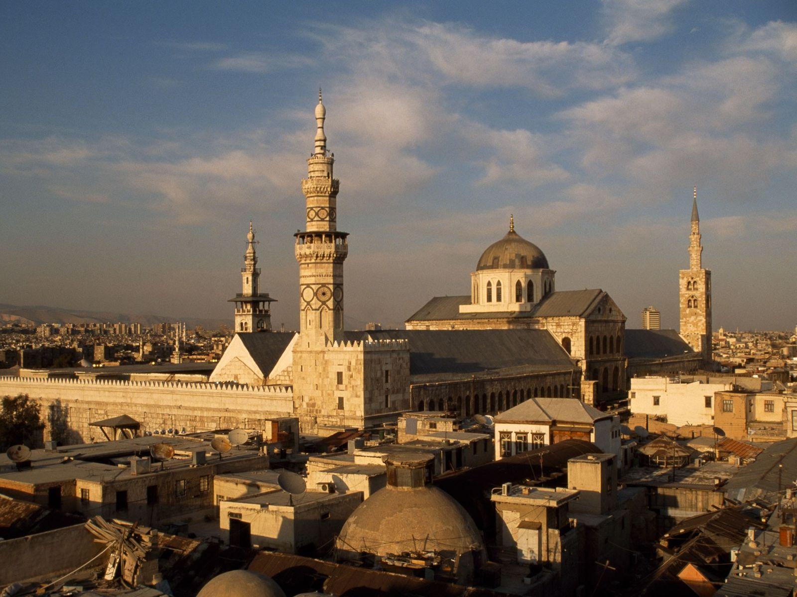 Die große Umayyaden-Moschee wurde vor 1.300 Jahren errichtet, als Damaskus die Hauptstadt der gleichnamigen Dynastie war.