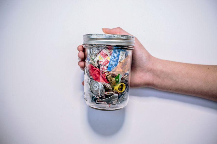 Nur ein Glas Müll pro Jahr mit Zero Waste