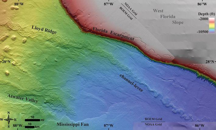 Der Joshua-Kanal im östlichen Golf von Mexiko