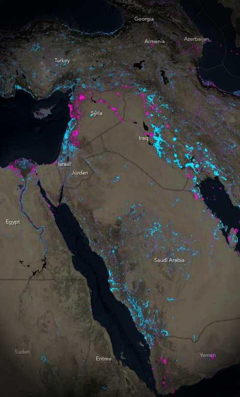 Lichtverschmutzung Karte Welt.Neue Karte Zeigt Veranderungen In Den Nachtlichen Lichtern