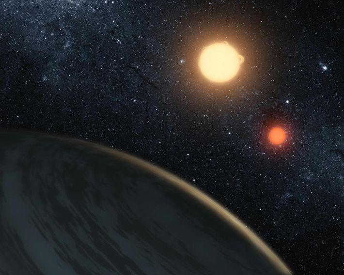 Planet mit zwei Sternen