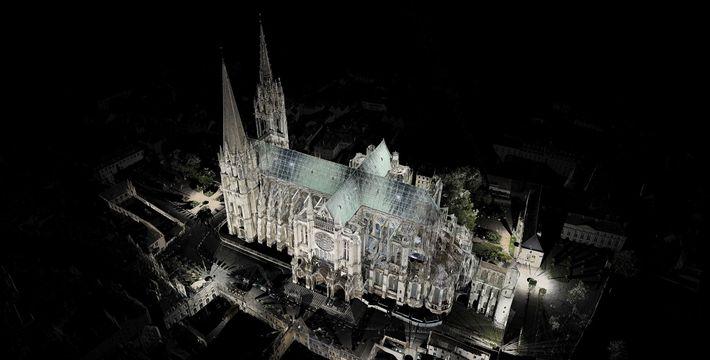 Andrew Tallon hat mit Lasern mehr als 45 historische Gebäude gescannt, darunter auch diese Kathedrale im ...