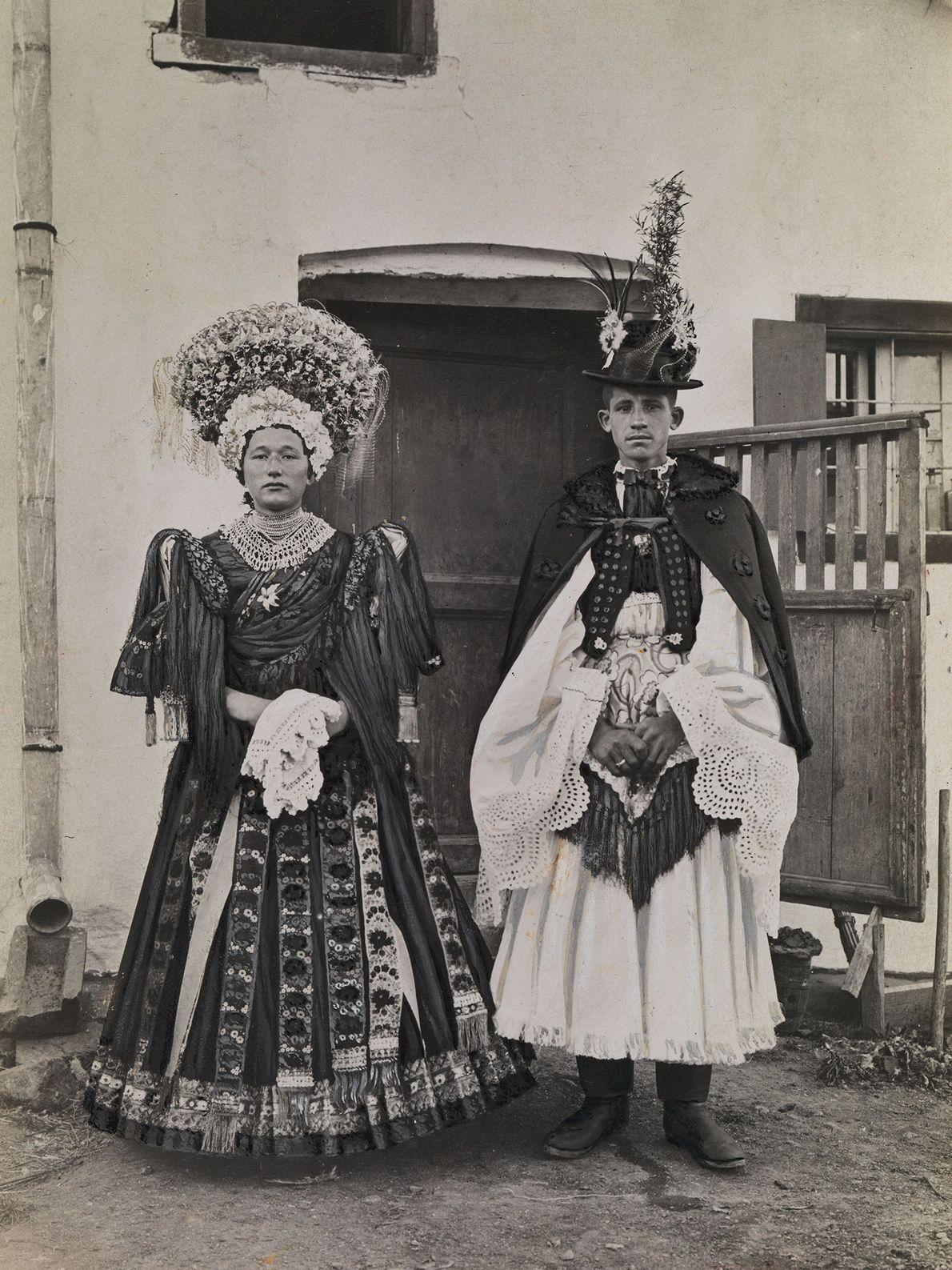 ungarische Braut und ihr Bräutigam