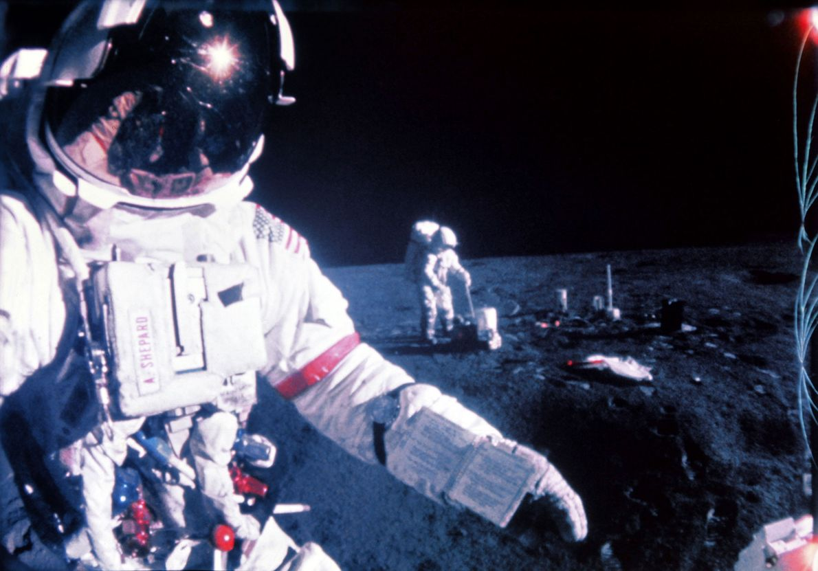 Apollo 14 war 1971 die dritte Mission, die auf dem Mond landete. Mit an Bord waren ...