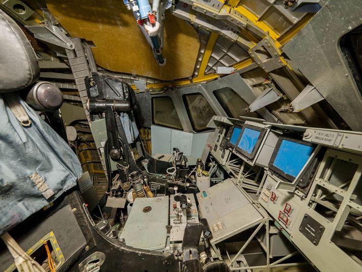 Bild vom Cockpit einer russischen Raumfähre