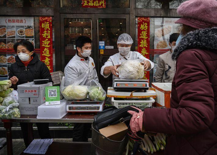 Gemüseverkäufer in Peking