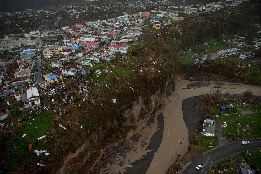Zehn Tage nach Hurrikan Maria zeigten Luftaufnahmen das gesamte Ausmaß der Zerstörung. Die Schäden waren so ...