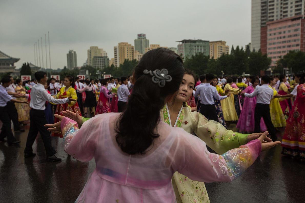 Tanzende Koreaner