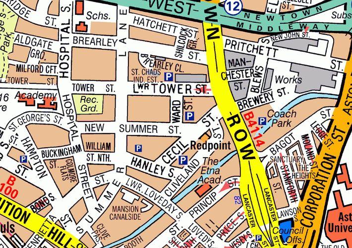 Karte von Birmingham