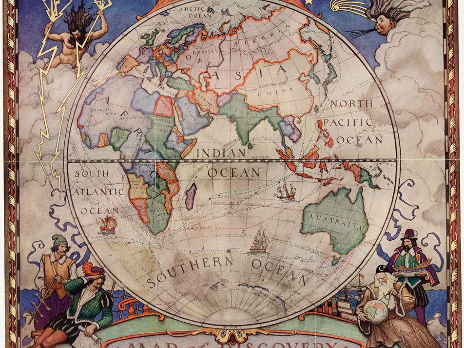 Faszinierende Vintage-Karten aus 130 Jahren National Geographic