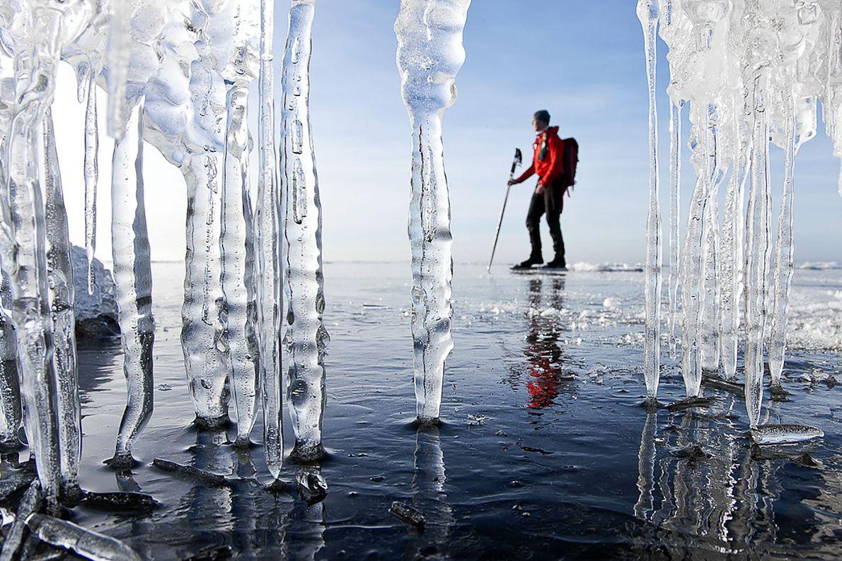 Für begeisterte Eisläufer hat frisches Eis ganz besondere Eigenschaften.