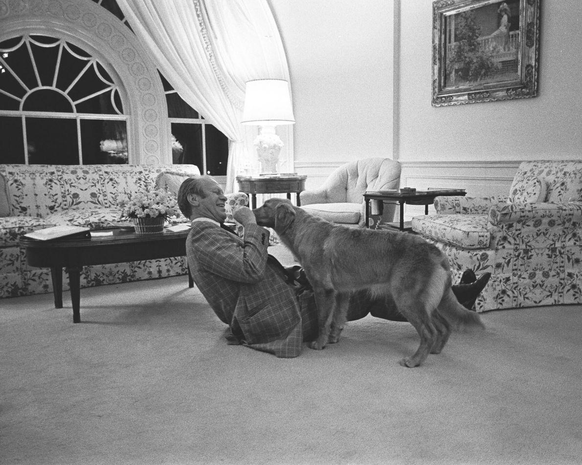 Gerald Ford & Hund Liberty