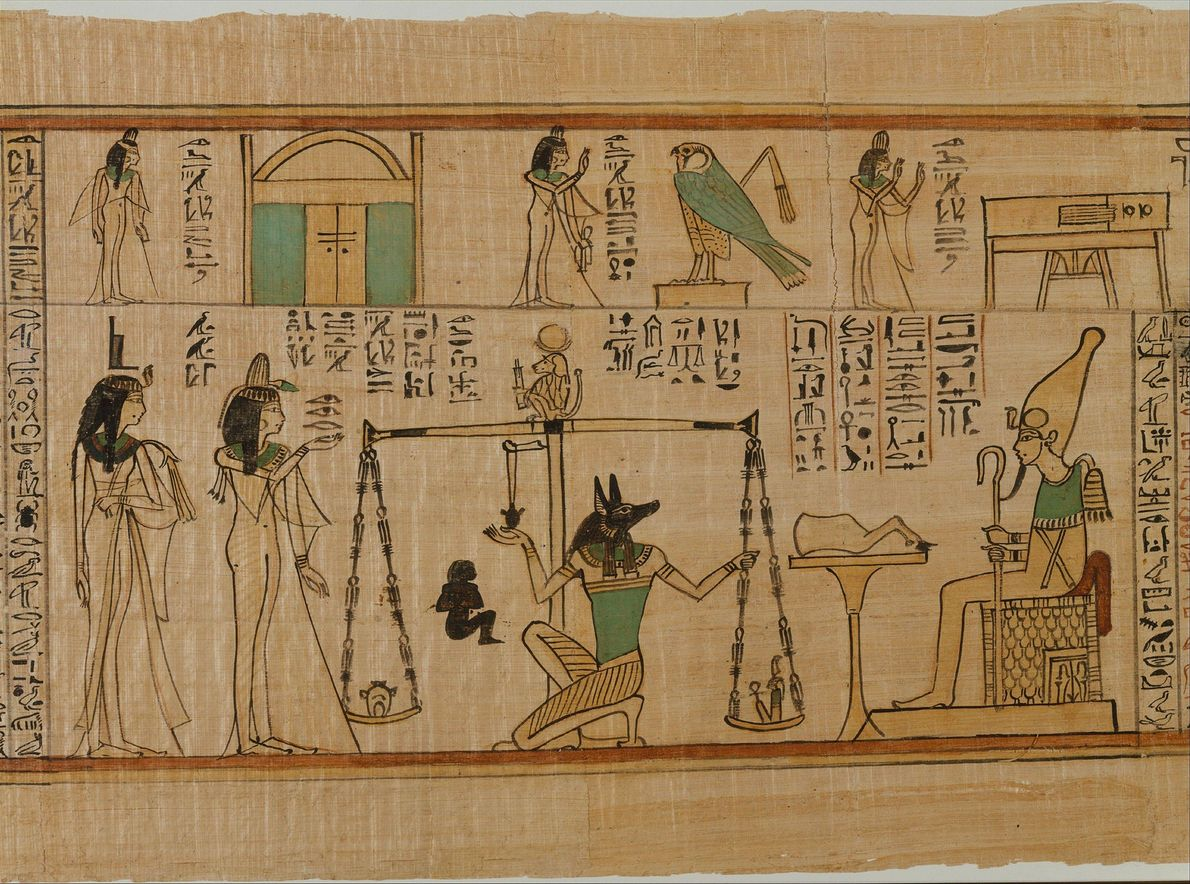 Der schakalköpfige Gott Anubis war für die Ägypter unter anderem der Gott der Mumifizierung und des ...