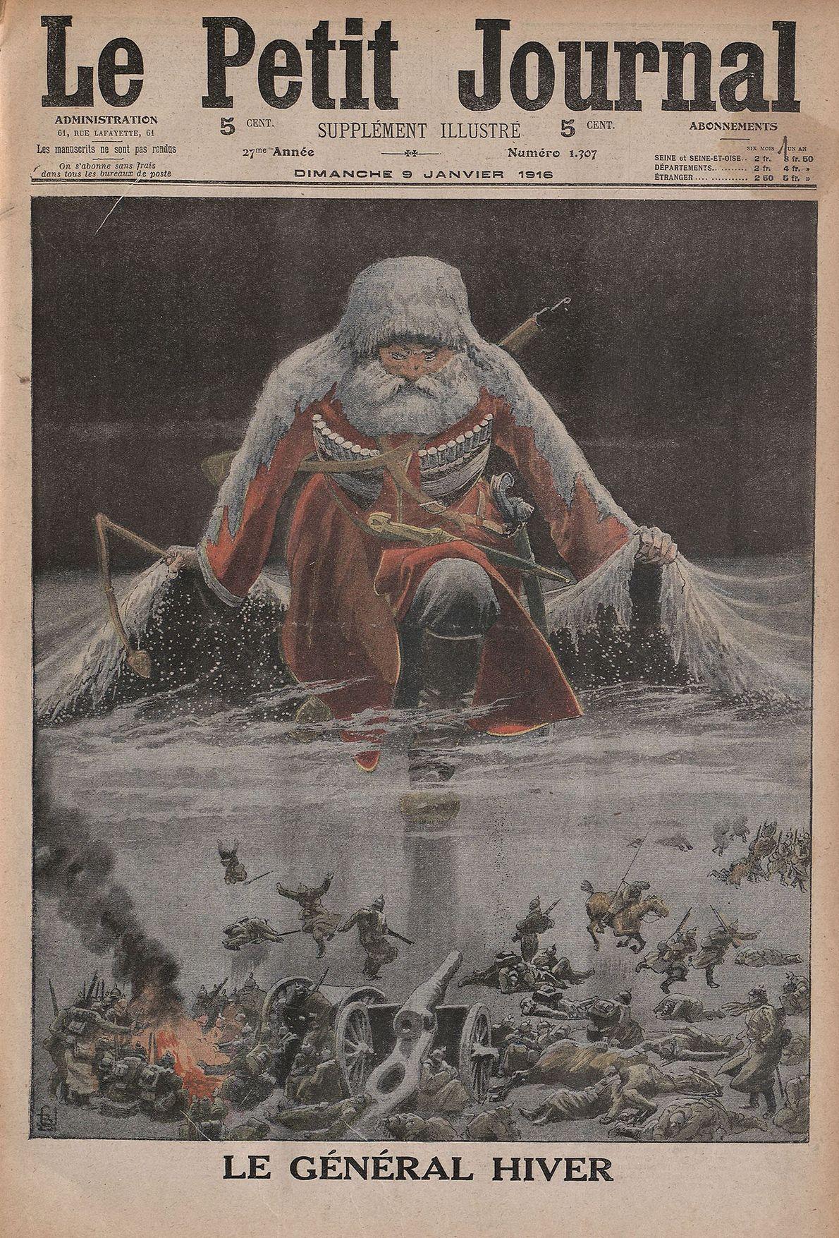 """Diese Illustration von """"General Winter"""" wurde 1916 während des Ersten Weltkriegs von der französischen Zeitschrift """"Le ..."""