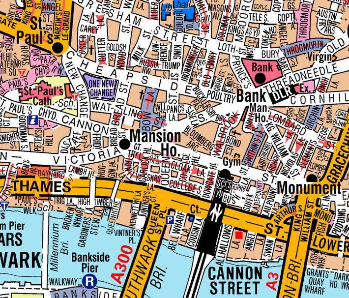 Gebiet rund um St. Paul's Cathedral