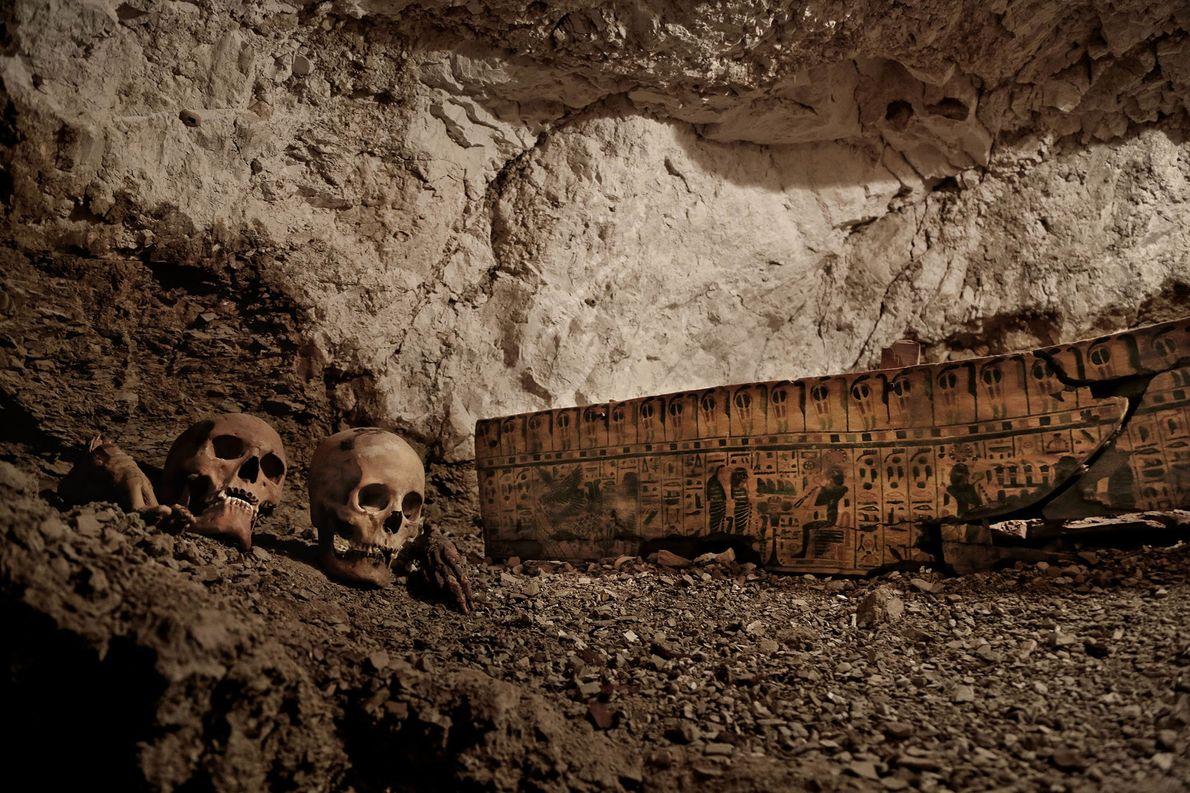 Das Grab des Goldschmieds führt zu zwei Grabschächten. Der Goldschmied lebte vor mehr als 3.500 Jahren ...