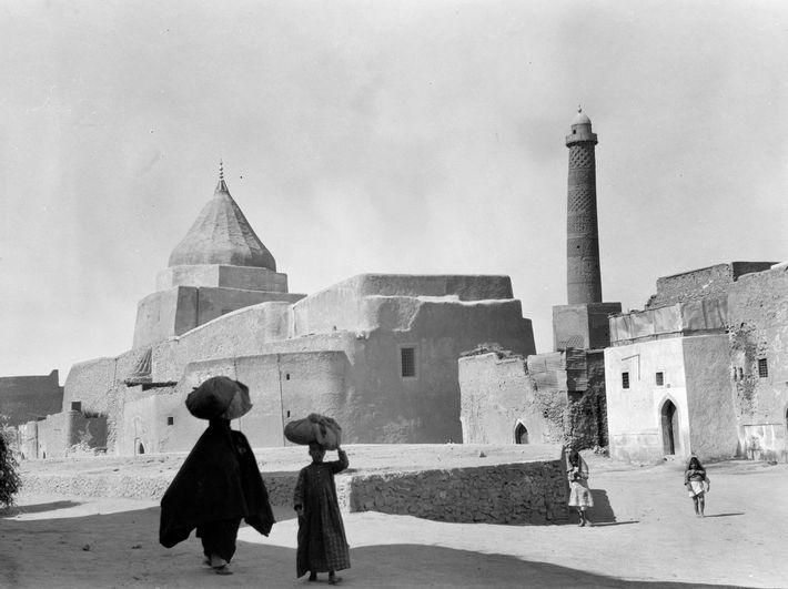 Foto vom schiefen Minarett aus dem Jahr 1933
