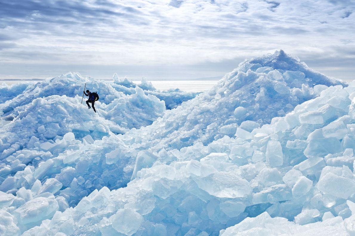 Die verschiedenen Eistypen erzeugen verschiedene Geräusche – von einem tiefen Grollen über Knacken bis hin zu ...