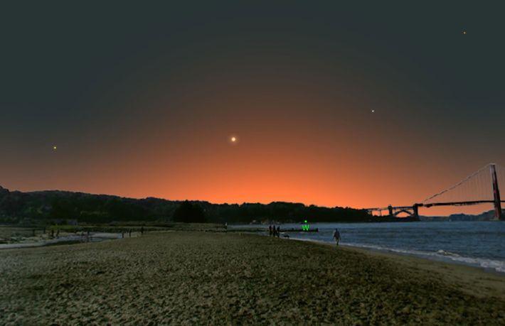 Der innerste Planet unseres Sonnensystems wird am 26. Februar besonders gut zu sehen sein.