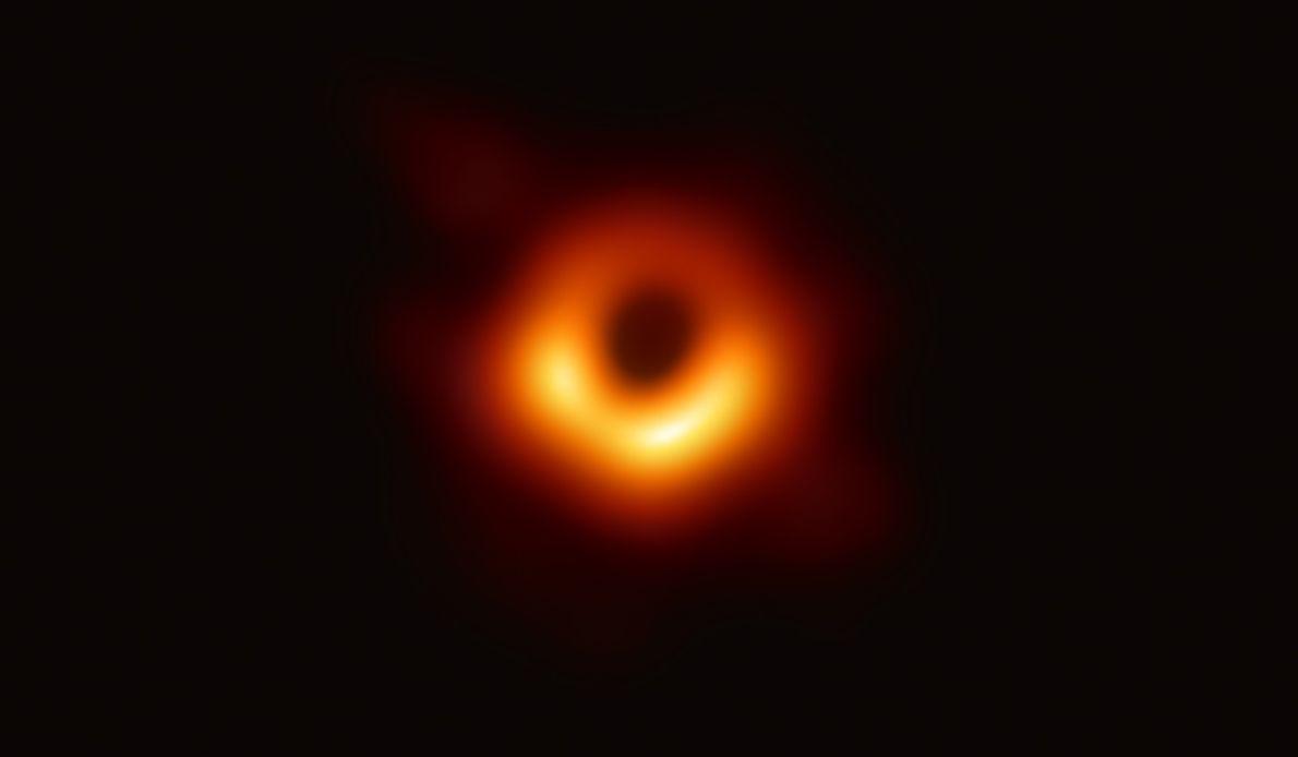 Randbereich eines Schwarzen Lochs