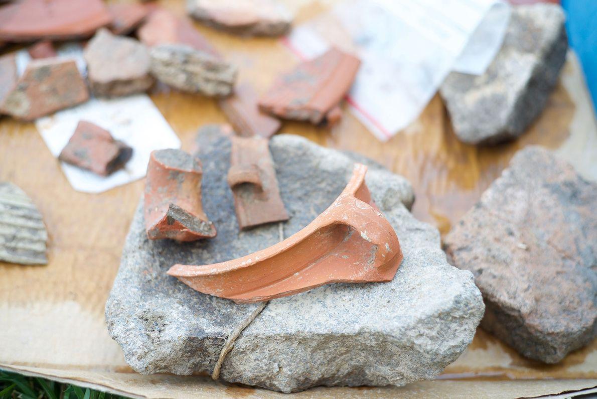 Überreste eines römischen Tongefäßes