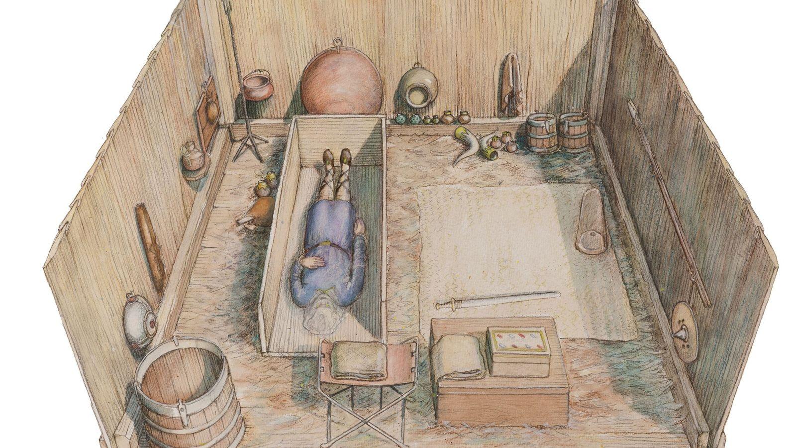 Dank mehr als einem Jahrzehnt sorgfältiger Forschung konnten Archäologen die Prittlewell-Grabkammer im Detail rekonstruieren.