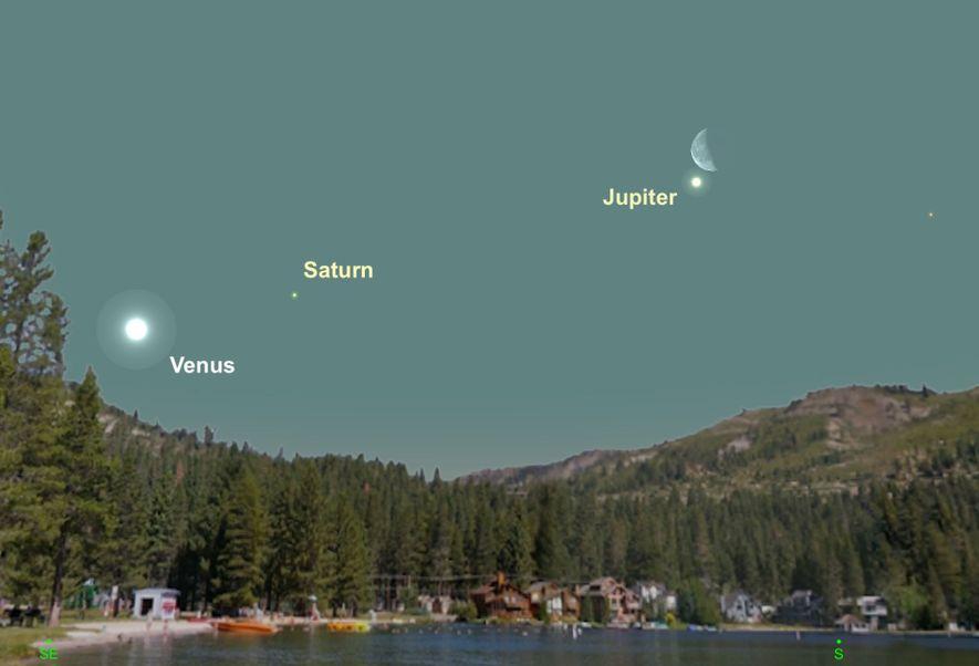 Am 27. Februar wird der strahlende Saturn besonders nah am Mond stehen.