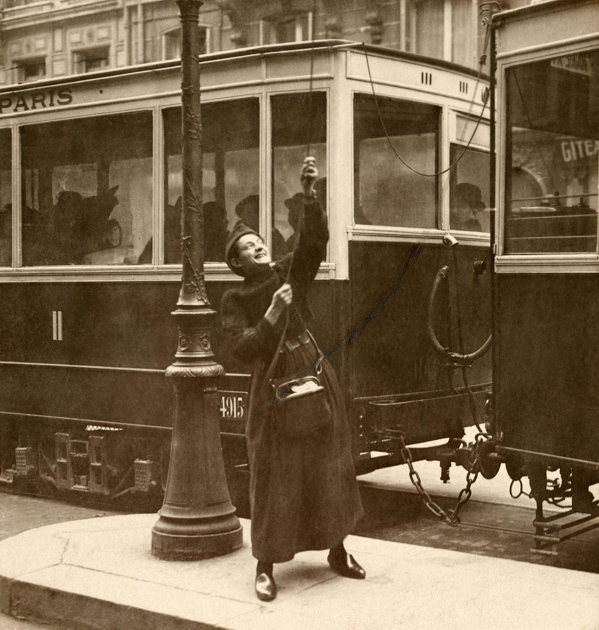 Frau im französischen Lorraine, 1917