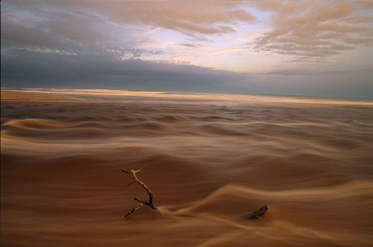 Die Landschaften Gabuns verschwimmen