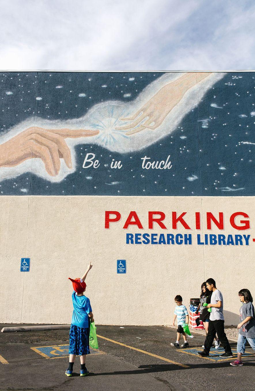 Jedes Jahr besuchen etwa 200.000 Menschen das International UFO Museum and Research Center in Roswell, New ...