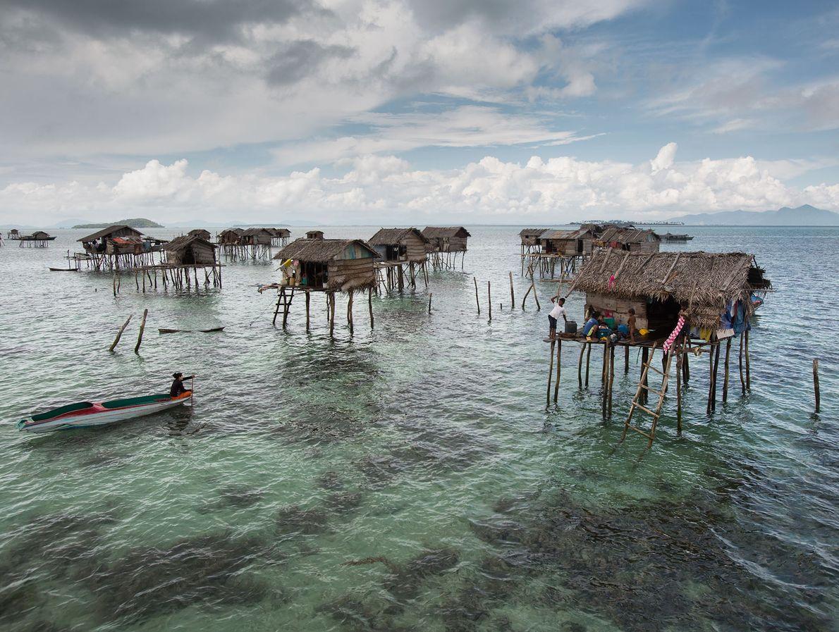 Bambus-Pfahlhäuser