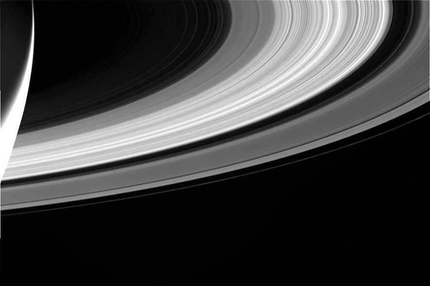 Cassinis Kamera machte diese Aufnahme der charakteristischen Ringe.