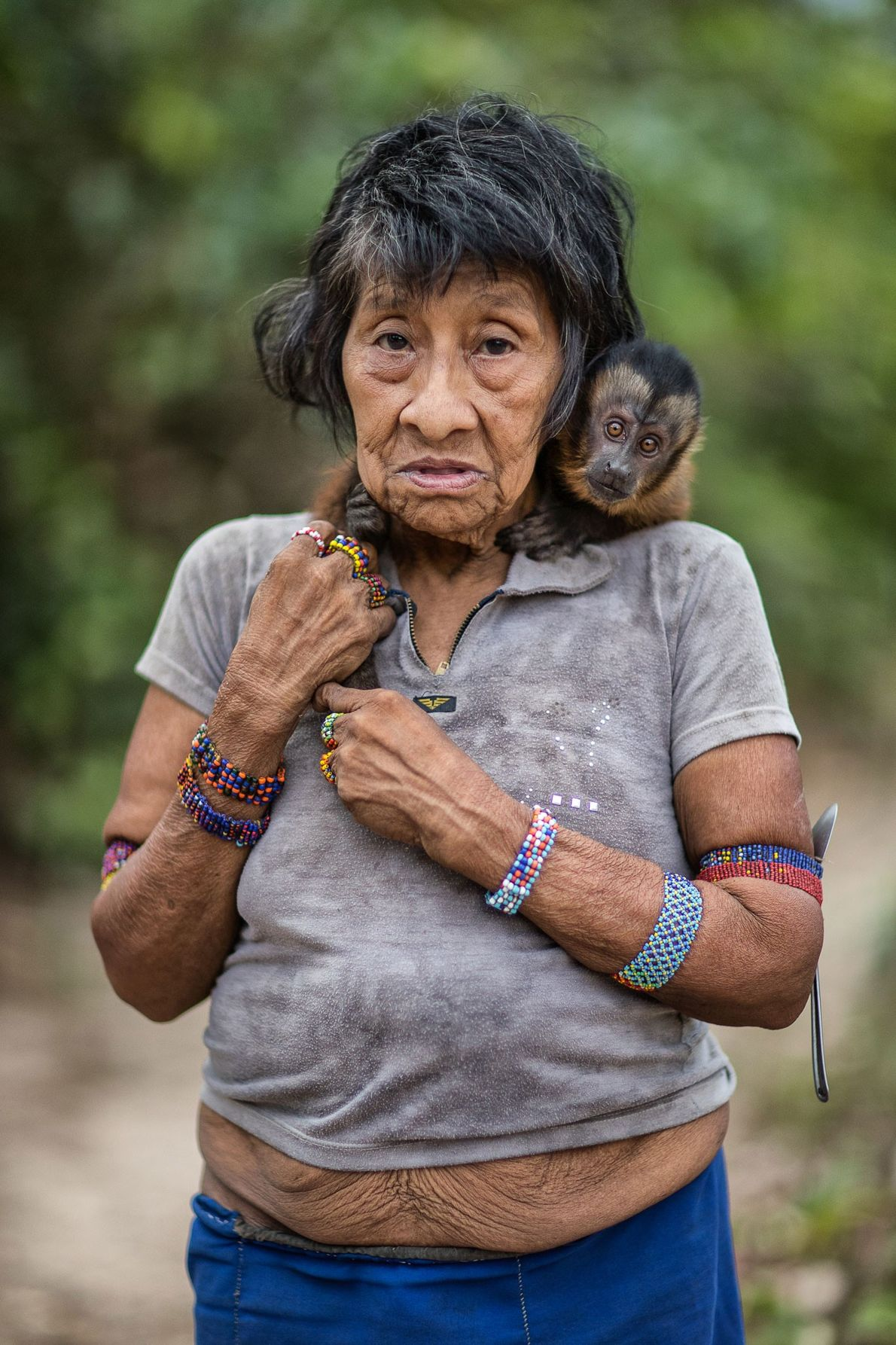 Amápiranawy ia am Fluss Káru. Juriti, Awã-Gemeinschaft, Brasilien