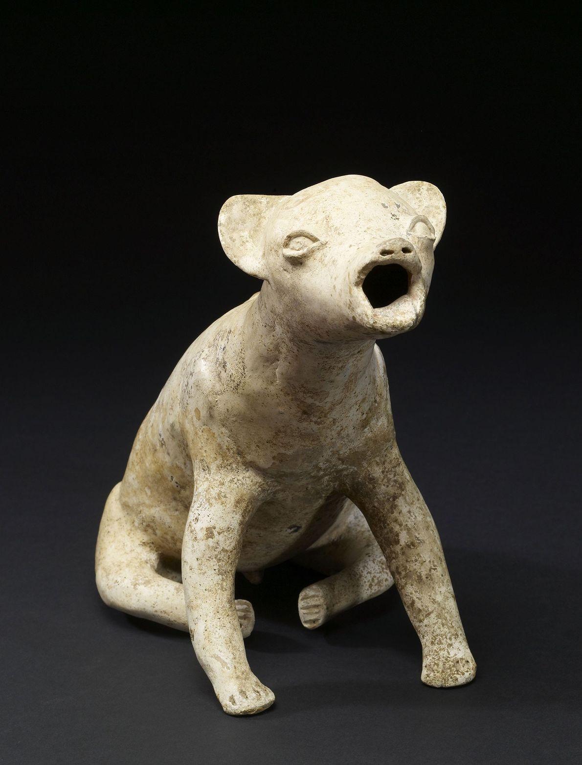 Dieser heulende Hund wurde vor etwa 2.000 Jahren von den Colima im Westen Mexikos gefertigt. Womöglich ...