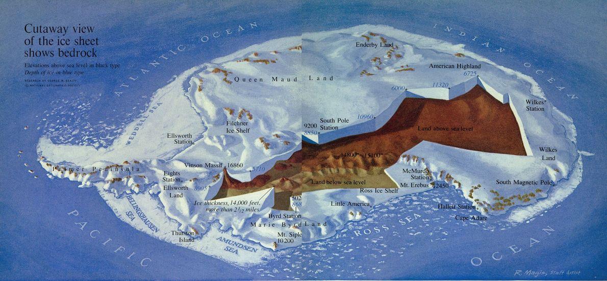 1963 ANTARKTIS, Karte