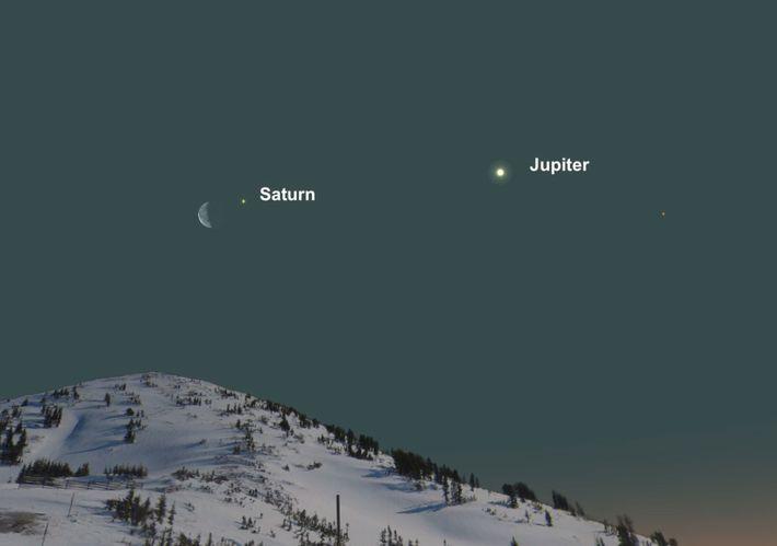 Wenn sich der März seinem Ende entgegenneigt, wird der Mond auf die Seite des Saturn wechseln.