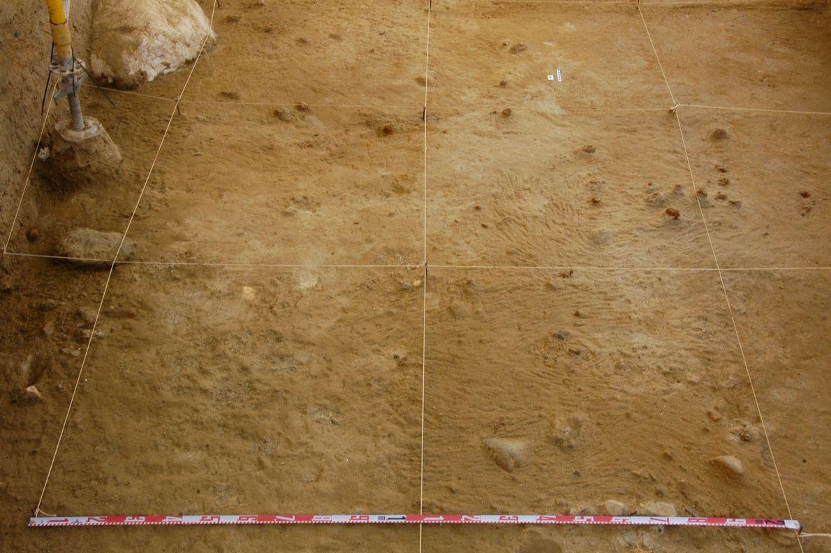 Die Ausgrabungsstätte bei Barranc de la Boella, Spanien.
