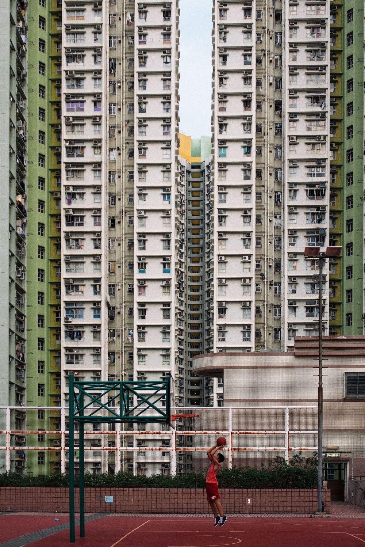 Körbe in Hongkong