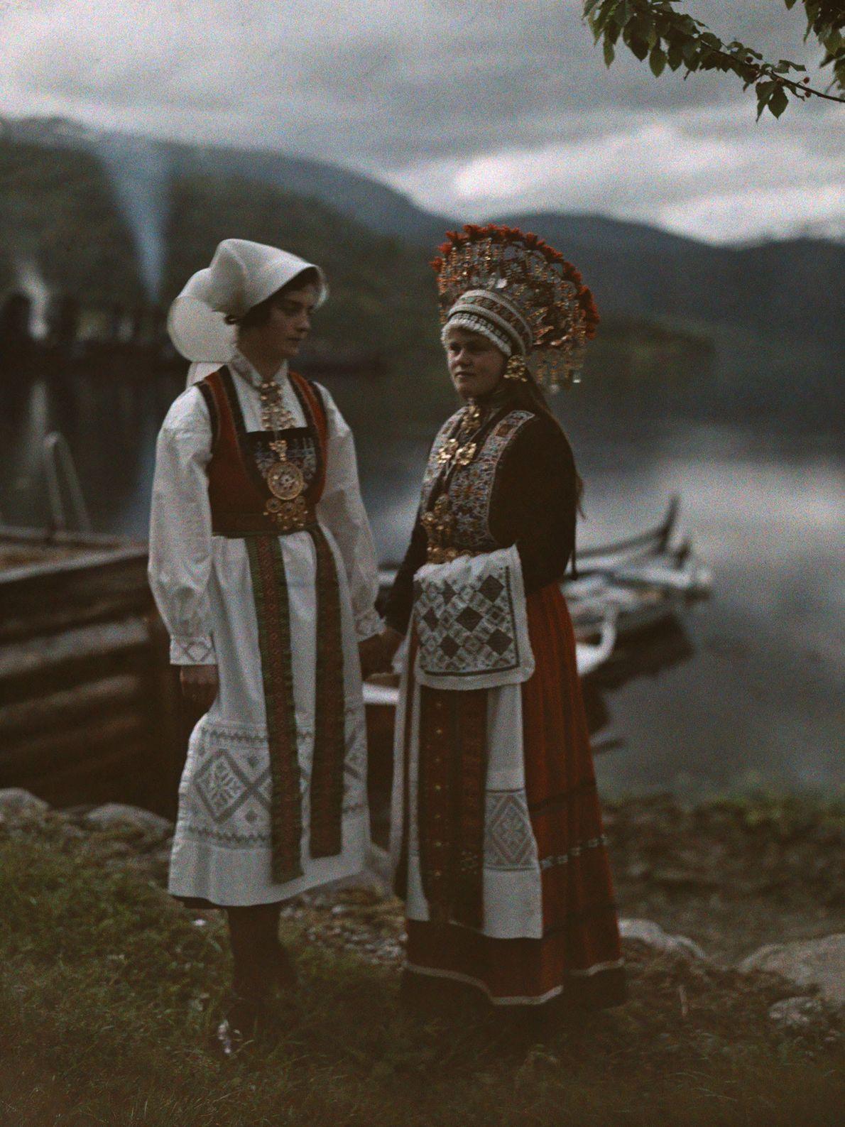 Frau und Braut aus Norwegen