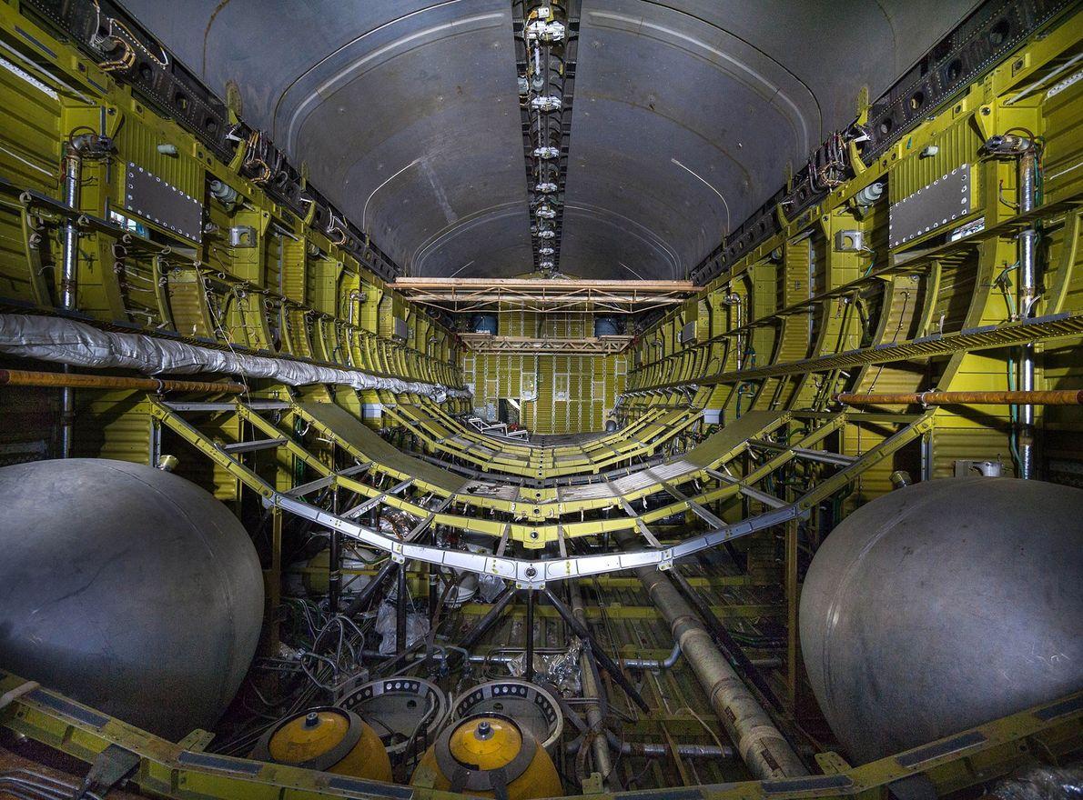 Bild einer russischen Raumfähre von Innen